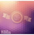 Vintage round badge on geometric background vector image