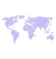 world atlas mosaic of lesbi symbol icons vector image vector image