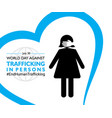 world day against trafficking in persons poster vector image vector image