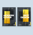yellow brochure design a4 cover template