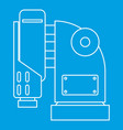 pneumatic hammer machine icon outline style