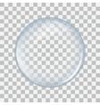 Glass sphere transparent vector image