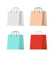 Shopping bag flat vector image