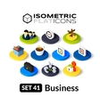 Isometric flat icons set 41 vector image