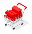 isometric shopping cart vector image