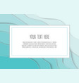 3d blue papercut layers background design vector image vector image