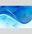 abstract blue wave polygon background vector image vector image