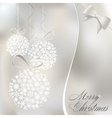 abstract christmas balls vector image vector image