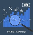 abstract of business analysis vector image vector image