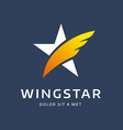 Abstract star wing logo icon design template vector image vector image