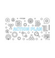 action plan horizontal outline vector image vector image