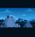 ancient mayan pyramids in vector image
