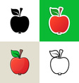 Apple design elements vector image vector image