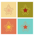 assembly flat icons poker star shines vector image