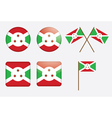 badges with flag of Burundi vector image vector image