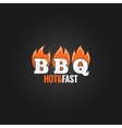 barbecue fire sign design background vector image