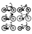 Bicycle silhouettes vector image