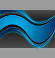 blue and black contrast smooth waves corporate vector image vector image