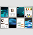 blue technology backgrounds and concept vector image vector image