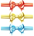 bow set vector image vector image