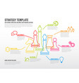 business strategy infographic template with thin vector image vector image