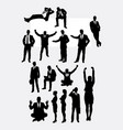 businessman and woman activity silhouettes vector image