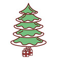 christmas pine tree icon vector image vector image