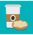Coffee and breakfast design vector image