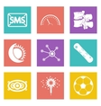 Color icons for Web Design set 40 vector image