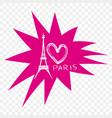 conceptual label i love paris vector image