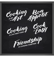Cooking related typography set Vintage vector image vector image