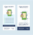 cyber security design with creative design and vector image vector image