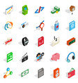 digital age icons set isometric style vector image vector image