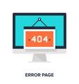 error page concept vector image vector image