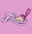 fabulous icon nails vector image vector image