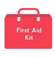 first aid kit flat on white vector image vector image