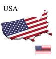 flag usa on 3d map