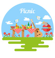 Flat Design Picnic BBQ elements vector image