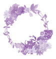 garland realistic flower with flying bee vector image vector image