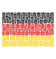 germany flag pattern of trash bin icons vector image vector image