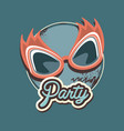 glasses mask carnival decoration retro party vector image