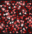 glitter seamless texture adorable red particles vector image