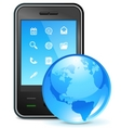 global business on phone vector image