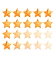 Golden 3d star premium Set The best reward vector image