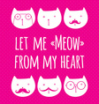 greeting card with cute cats vector image