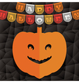 halloween pumpkin decoration vector image vector image