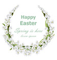 happy easter card with lily of the valley floral vector image vector image
