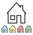 icon house stylized home logo a minimal set of vector image vector image