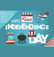 independence day greeting card fourth july vector image
