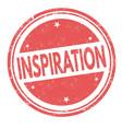inspiration grunge rubber stamp vector image